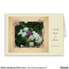 #Robin and #QueenAnn'sLace Note cards @whitewaves1