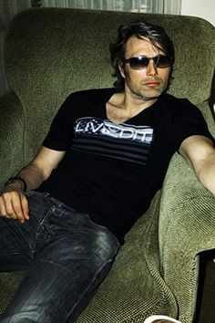 Mads Mikkelsen. I adore him as Hannibal, but only fell in lust after finding some scruffier pics.  Hani is a bit over-coiffed for my taste.