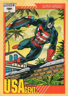 USAgent #35 1991 Marvel Impel - a photo on Flickriver