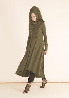 Khaki Chiffon Silk Abaya Collection