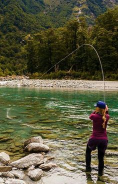 Clear water fly fishing