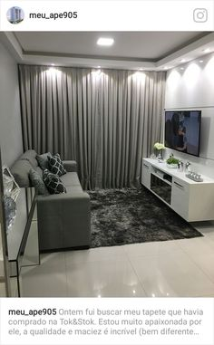 New living room interior grey salons ideas New Living Room, Small Living Rooms, Living Room Interior, Living Room Designs, Living Room Decor, Tv Room Small, Apartment Interior, Apartment Design, Home Interior