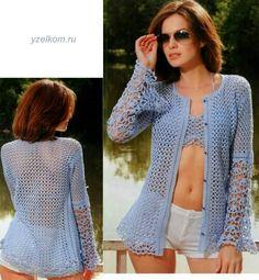 3 Crochet Blouse, Ruffle Blouse, Crochet Dresses, Blusas Top, Rubrics, Design Crafts, Bikini, Knitting, Sweaters