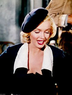 marilyn in ensemble and white beret - Google Search