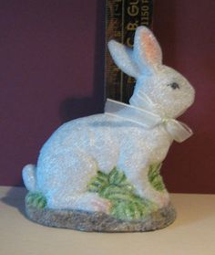 vintage glitter easter bunny