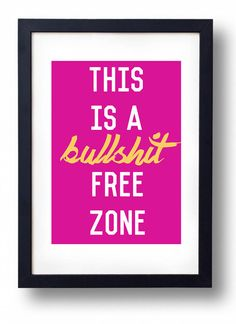 This PSA: | 23 Artfully Profane Wall Prints That Are Just Keeping It Real