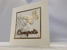 The Craft Spa - Stampin' Up! UK independent demonstrator : CAS Embossed Corner Garden Cards & Tuesday Tips