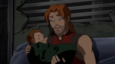 Season 2 Episode 4 Salvage: Roy's reaction to holding his daughter (Lian) for the first time.