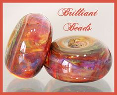 Amazon Bronze Swirls Boro Glass Bead by Gillianbeads on Etsy, $6.50