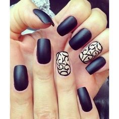 60 Pretty Matte Nail Designs ❤ liked on Polyvore featuring beauty products, nail care and nail polish