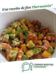 Salade de crevettes , mangue et avocats par lamouette39. Une recette de fan à retrouver dans la catégorie Entrées sur www.espace-recettes.fr, de Thermomix®.