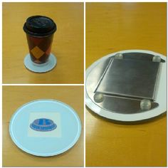 Rubber feet on these glass coasters! Cool Coasters, Glass Coasters, Cool Stuff