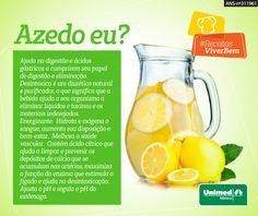 Os benefícios da água com limão. Esprema ½ limão no copo de água morna ou natural e beba em jejum.  #unimedmanaus