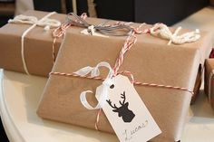 Creative Holiday Wrapping (reindeer silhouette gift tags)