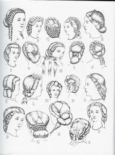 1861 - 63 - coiffures Victoria et Elizabeth... I believe some of these would work