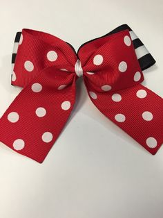 A personal favorite from my Etsy shop https://www.etsy.com/listing/223254180/minnie-mouse-inspired-hair-bow