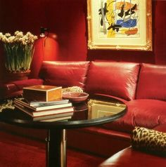 my dream NYC sitting room by vicente wolf -- always loved this deep red sensuous room