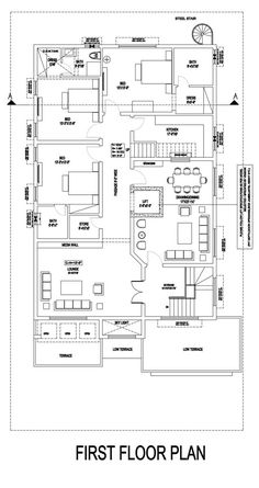 Free House Plans, House Layout Plans, Family House Plans, Modern House Plans, House Layouts, House Floor Plans, Two Story House Design, House Design Pictures, Architectural House Plans