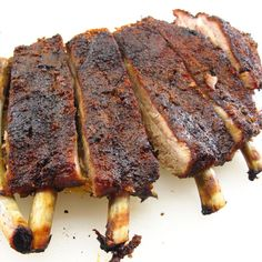 Slow Roasted St. Louis Style Pork Ribs - No grill? No problem! These are slow roasted in the oven. #ribs