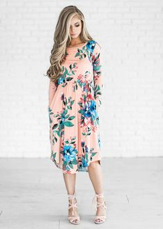 floral, spring dress, floral dress, easter dress, shop, style, fashion, blonde hair, ootd, womens style, womens fashion, blonde, hair