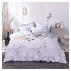 Marble Bedding, Marble Bedroom, Marble Duvet Cover, Marble Bed Set, White Marble, White Duvet Cover Queen, White Duvet Covers, Duvet Cover Sets, Marble Room Decor