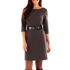 jcpenney.com | Alyx® Spliced Belted Dress - Petite