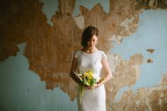 Antler bridal bouquet | a & bé style book | see more on: http://burnettsboards.com/2014/04/15-fabulously-styled-wedding-dresses/ #antler #bouquet