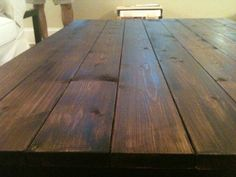 The Feminist Mystique: DIY Rustic Wood Coffee Table/Farm Table PS save 17.50 by using free pallet wood