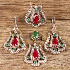 Oriental Turkish Jewelry Set  Tulip Form  by HelenFineJewel, $95.00