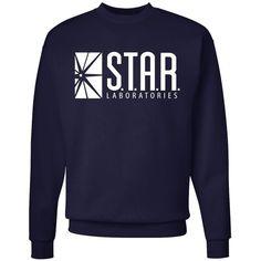 Star Labs Adult Crewneck Sweatshirt (280 ARS) ❤ liked on Polyvore featuring tops, hoodies, sweatshirts, blue sweatshirt, crewneck sweatshirt, star print top, crew-neck sweatshirts and blue top