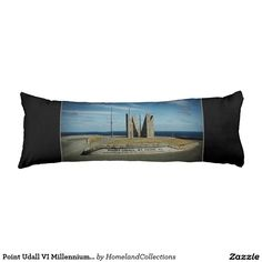 Point Udall VI Millennium Monument Body Pillow - This is a photograph of Point Udall, St. Croix USVI on a Body Pillow. Great for decor, your comfort or give as a gift. Point Udall is the eastern most point in the United States located on St. Croix, US Virgin Islands in the Caribbean. It is marked by a sundial known as the Millennium Monument. It is visited by many locals, as well as, visitors when they come to the island. Copyright Denise Bennerson, photographer