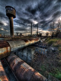 abandoned industrial area