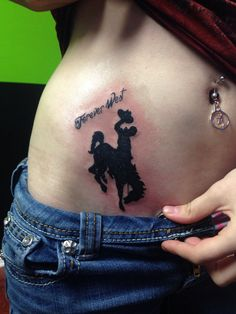 Bucking horse tattoo!