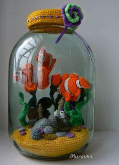 аквариум рыбки вязаные