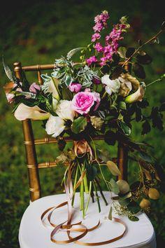 pink and gold Mark Williams Studio Florals #bridalbouquet #weddingflowers #pinkandgold