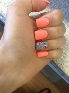 Pink nail : salmon color