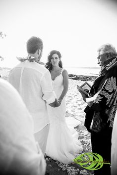 Hawaii Wedding Couple @ Kumukea Beach the Four Seasons Hualalai on the Big Island of Hawaii. A beautiful day with blue skies and sunshine and a turtle hanging out on the beach. http://hawaiiphotographer.com/wedding-photographer-hawaii-christa-eric/