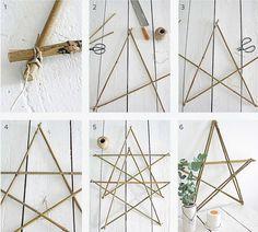Kerstster van bamboetakken Sfeervolle kerstdecoratie hoeft niet duur te zijn. Van bamboestokken maak je eenvoudig een kerstster. Ga aan de slag met het stappenplan en je hebt mooie decoratie voor een prikkie!