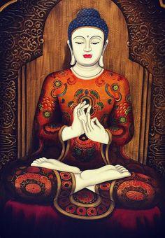 Buddha – Health is important Lotus Buddha, Art Buddha, Buddha Zen, Buddha Painting, Gautama Buddha, Buddha Buddhism, Tibetan Buddhism, Buddhist Art, Religion