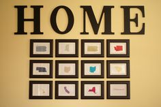 """States where we've lived framed - We are a military family but had too many homes in our career for the typical """"home is where the military sends us"""" signs. THIS suites our family well. <3"""
