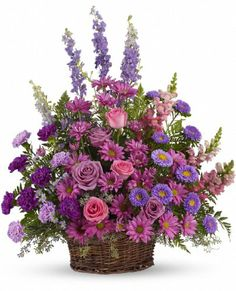 Flowers - Gracious Lavender Basket - http://yourflowers.us/?p=5260