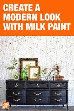 Milk Paint - Furniture & Wood Paint - The Home Depot Milk Paint Furniture, Black Painted Furniture, Refurbished Furniture, Furniture Projects, Furniture Makeover, Home Furniture, Oriental Furniture, Colorful Furniture, Decoration