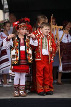 Ukrainian folk costumes.