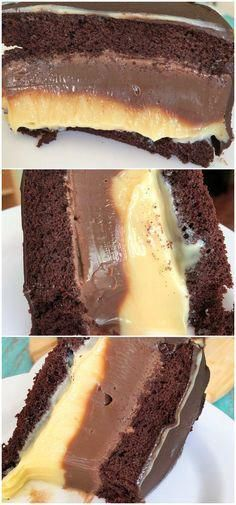 EASY SUPER CHOCOLATE CAKE, Desserts, Super easy chocolate cake recipe, a burst of hotness, the most spectacular cake I have ever tasted! Baking Recipes, Cake Recipes, Dessert Recipes, Chocolate Cake Recipe Easy, Bolo Chocolate, Tasty, Yummy Food, Sweet Recipes, Food Cakes