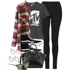 A fashion look from March 2016 featuring red flannel shirt, print tees and tall pants. Browse and shop related looks. Cute Teen Outfits, Cute Outfits For School, Tomboy Outfits, Teenager Outfits, Retro Outfits, Outfits For Teens, Stylish Outfits, Cool Outfits, Grunge Outfits