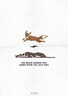the quick brown fox, jumps over the lazy dog, Graphic Design, creative, visual, inspiration