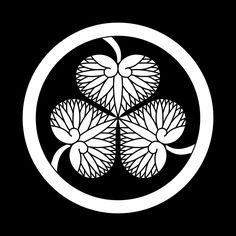徳川葵 とくがわあおい Tokugawa aoi The design of three leaves of hollyhocks.