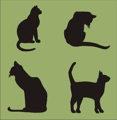 CATS Stencil 6x6.5 Kitten Stencils by SuperiorStencils on Etsy, $9.25