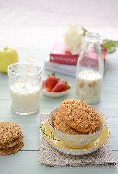 ¡Qué cosa tan dulce!: Galletas de avena y manzana. Explica cómo hizo las fotos