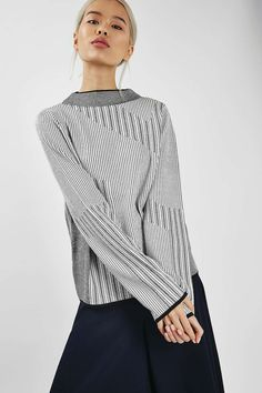 Mixed Stripe Jumper - Knitwear - Clothing - Topshop